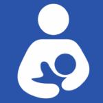 breastfeeding parent child blue background white parent image
